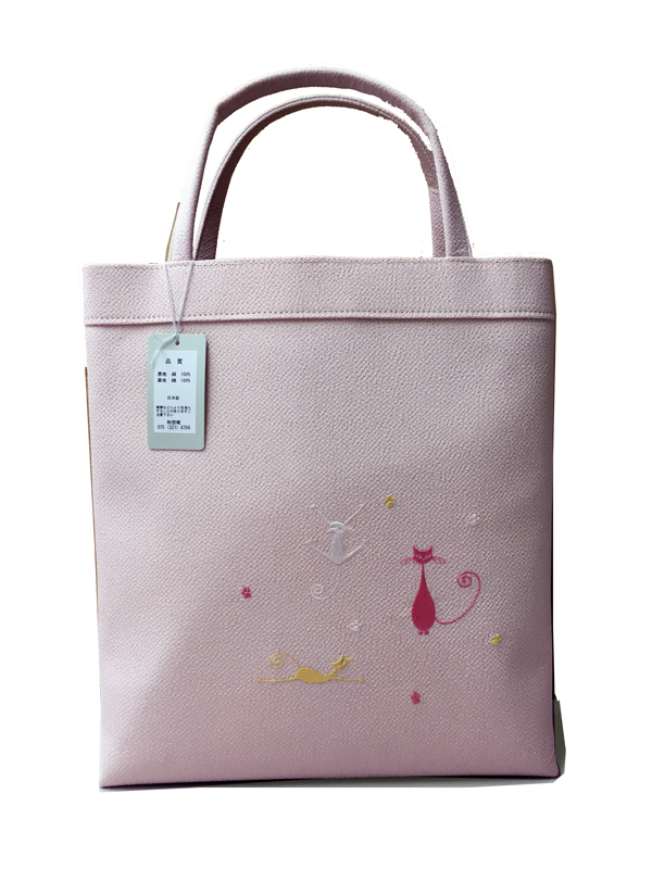 Kimono Bag, Silk 100% , MADE IN KYOTO, Japan , pink,